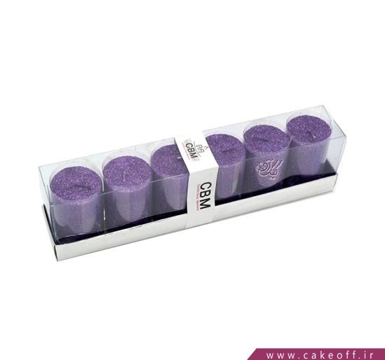 خرید اینترنتی شمع های تزئینی - شمع اکلیلی استوانه ای 6 عددی | کیک آف