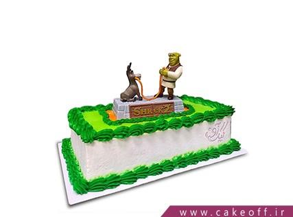 کیک تولد بچه گانه شرک 4 | کیک آف