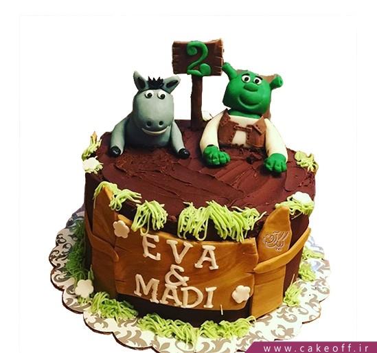 کیک تولد بچه گانه شرک 5 | کیک آف