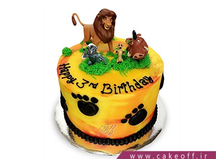 کیک تولد جدید - کیک شیر شاه 1 | کیک آف