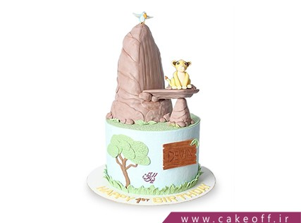 کیک تولد کودک - کیک شیر شاه 8 | کیک آف