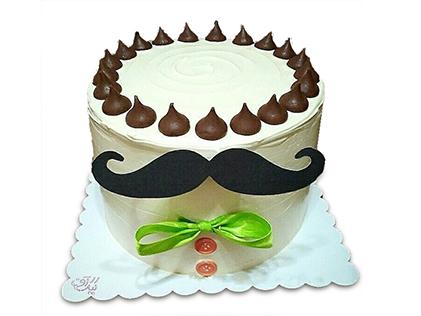 سفارش کیک روز مرد - کیک سیبیل جان | کیک آف