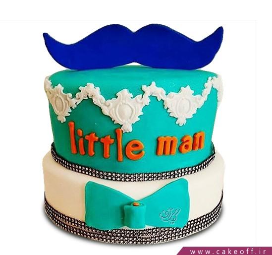 سفارش کیک روز مرد - کیک سیبیل آبی | کیک آف