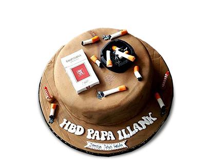 سفارش کیک روز مرد - کیک کاش سیگار نمی کشیدی | کیک آف