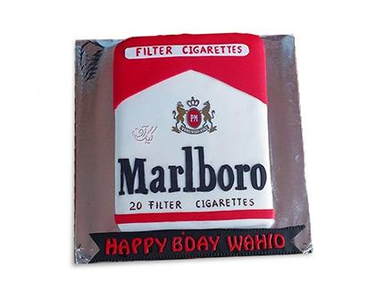 کیک تولد مردانه - کیک امان از سیگار | کیک آف