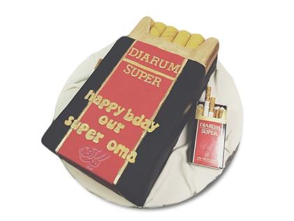 کیک تولد همسر - کیک سیگار نکشی زندگیمون بهتره | کیک آف
