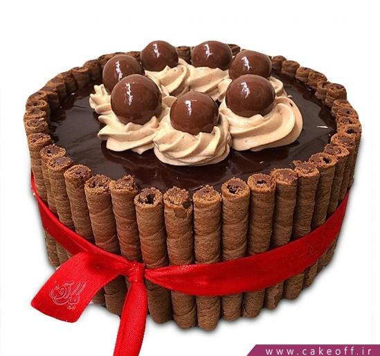 کیک سیگار برگ شکلاتی
