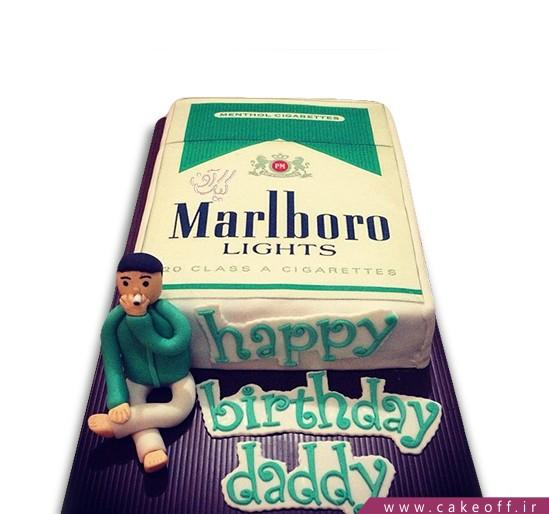 سفارش کیک روز مرد - کیک بابا جون سیگار نکش | کیک آف