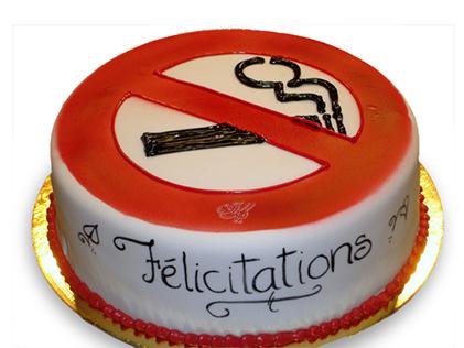 کیک تولد مردانه سیگار ممنوع | کیک آف