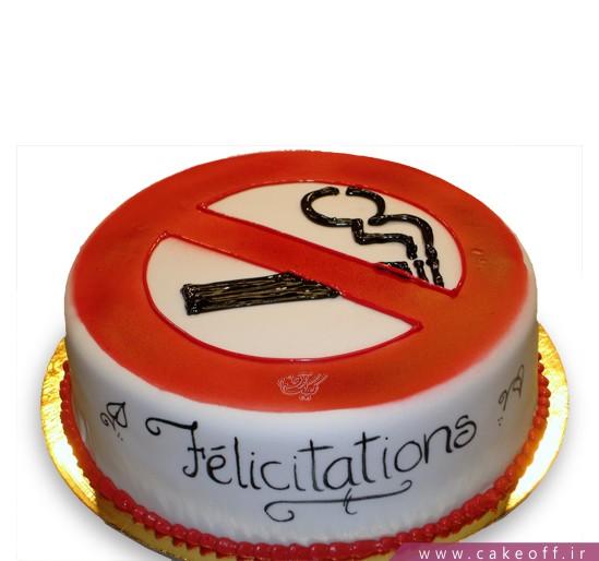 کیک تولد مردانه سیگار ممنوع