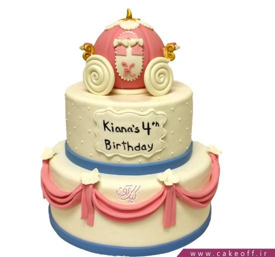 کیک دخترانه کالسکه سیندرلا