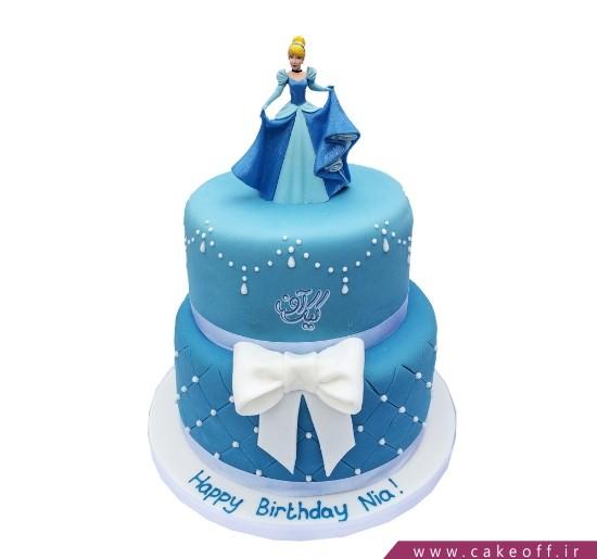 کیک تولد زیبا دخترانه - کیک سیندرلا و مهمانی پادشاه | کیک آف
