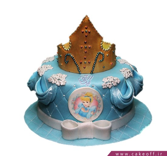 مدل کیک تولد دخترانه - کیک سیندرلا اکلیلی | کیک آف