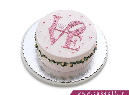 سفارش کیک عاشقانه - کیک لاو | کیک آف