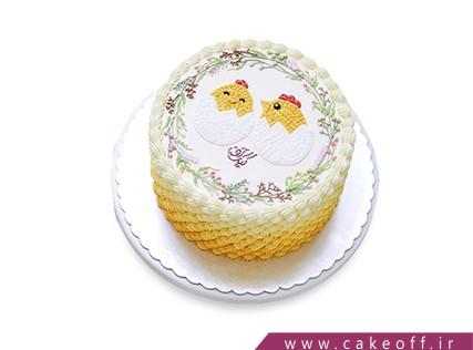 سفارش کیک فانتزی - کیک دو جوجه | کیک آف