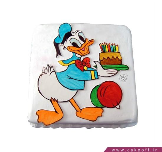 سفارش کیک تولد بچگانه - کیک کارتونی دونالد داک ۱ | کیک آف