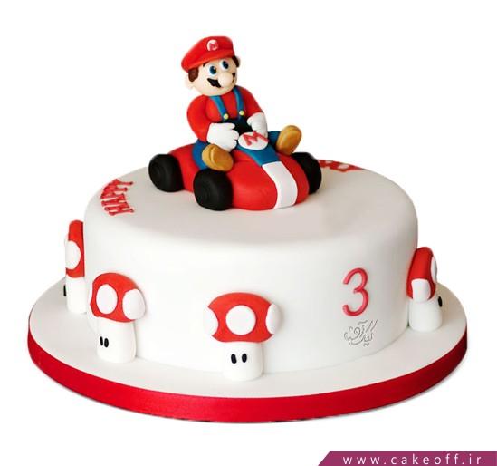 سفارش کیک اینترنتی - کیک بچه گانه سوپر ماریو | کیک آف