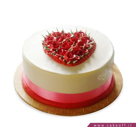 کیک عاشقانه در قلب من