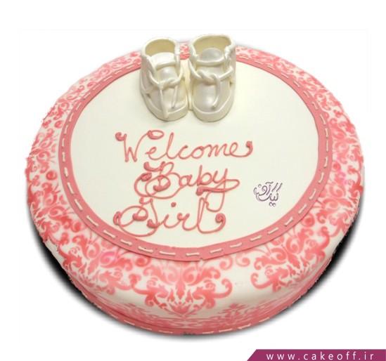 کیک تولد بچه گانه اولین قدم