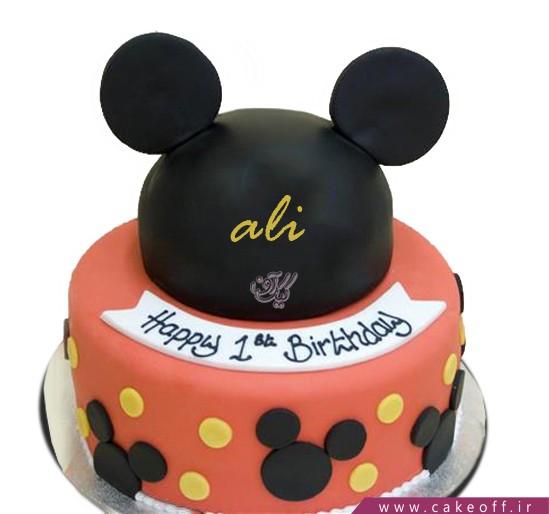 کیک تولد میکی موس مشکی