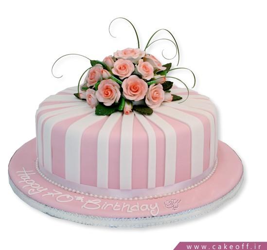 کیک تولد دخترانه گلبوته   کیک آف