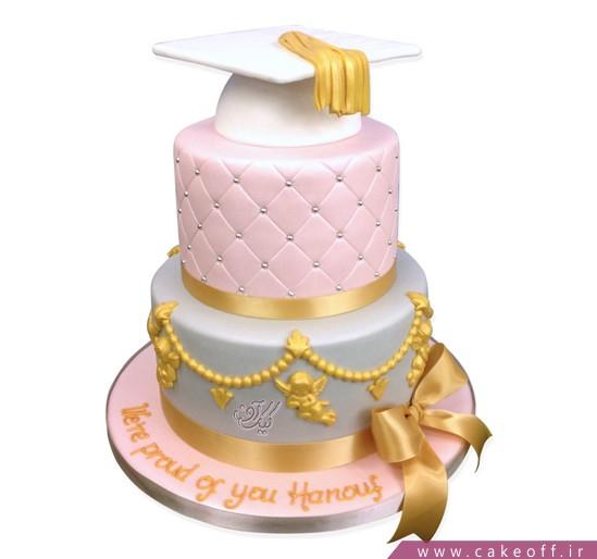 کیک جشن فارغ التحصیلی پایان شیرین