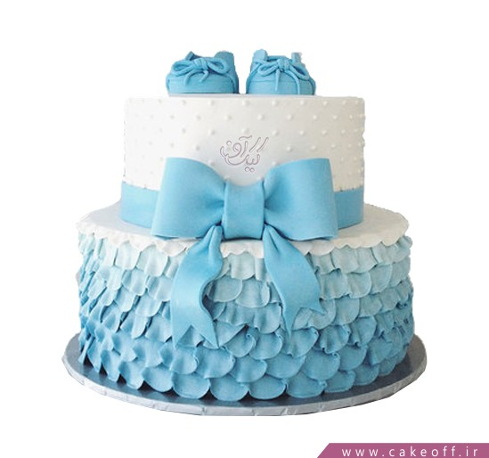 کیک تولد نوزاد کفش های کوچولو