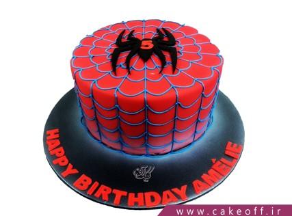 عکس کیک مرد عنکبوتی