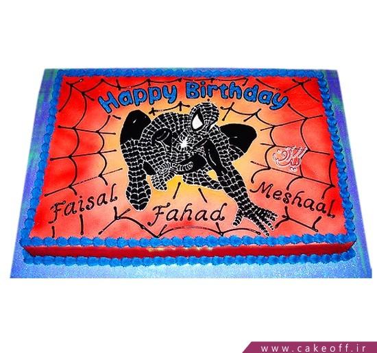 کیک تولد پسرانه جدید - کیک تولد پسرانه مرد عنکبوتی چاپی | کیک آف