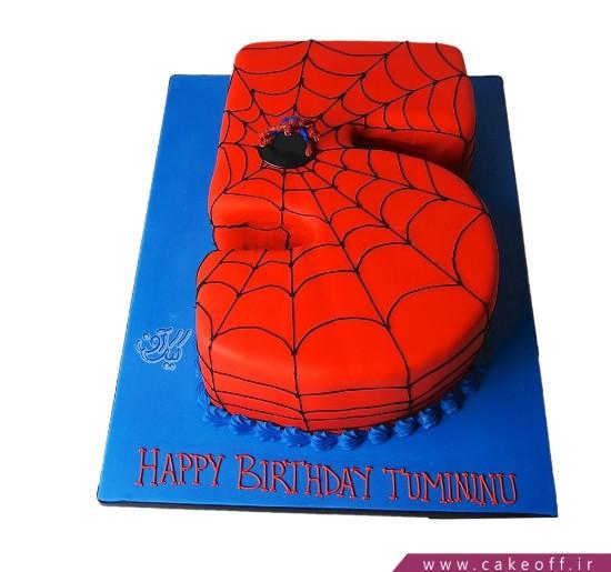 کیک تولد پسرانه جدید - کیک عدد 5 عنکبوتی | کیک آف