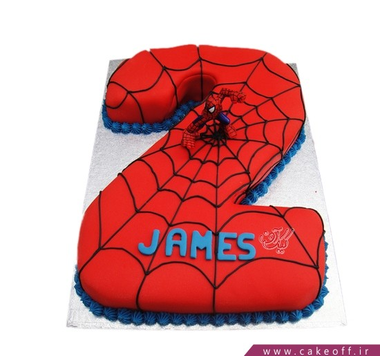 کیک عدد 2 عنکبوتی