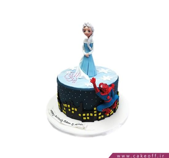 انواع کیک تولد - کیک تولد مرد عنکبوتی و نجات فرشته | کیک آف