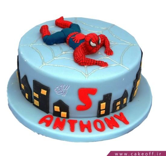 کیک تولد پسرانه مرد عنکبوتی 10