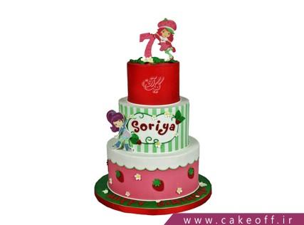 کیک اصفهان - کیک تولد دخترانه توت فرنگی 3 | کیک آف