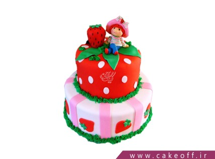 کیک دخترانه دختر توت فرنگی درخشان | کیک آف