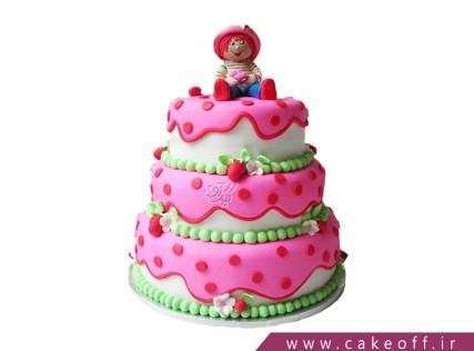 قیمت کیک - کیک تولد دخترانه دختر توت فرنگی 5 | کیک آف