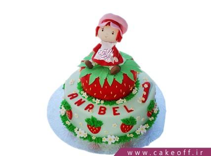 کیک تولد دخترانه دختر توت فرنگی 6 | کیک آف