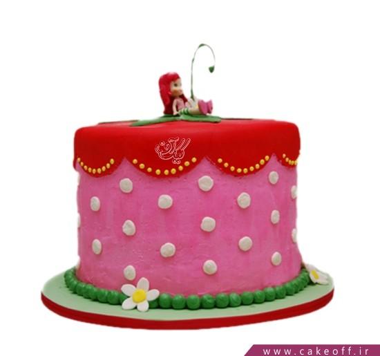 کیک دخترانه دختر توت فرنگی 1