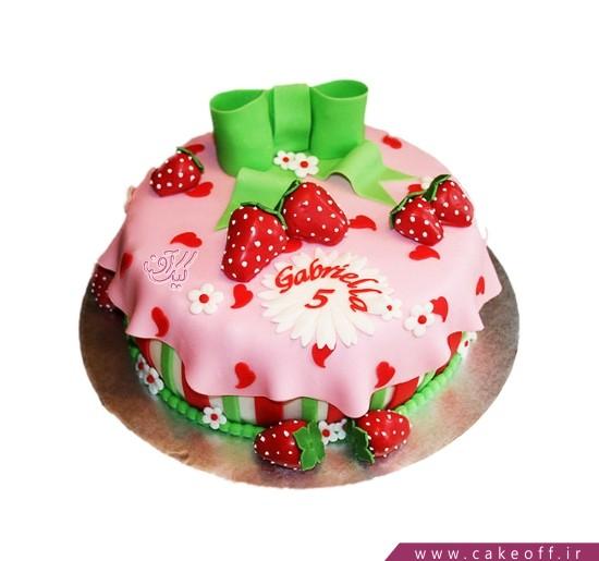 کیک دخترانه دختر توت فرنگی 2