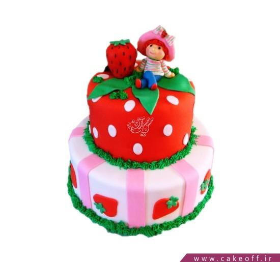 کیک دخترانه دختر توت فرنگی درخشان