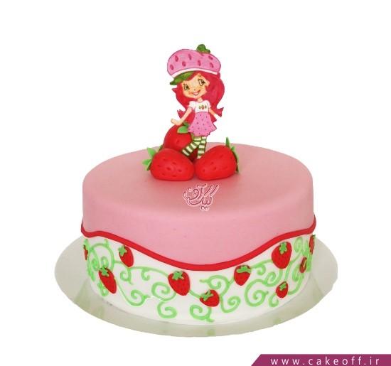 کیک تولد دخترانه دختر توت فرنگی 4