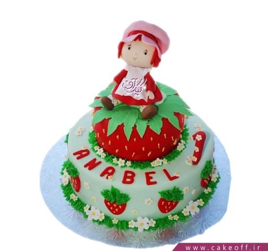 کیک تولد دخترانه دختر توت فرنگی 6