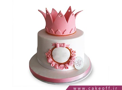 کیک روز دختر - کیک تاج صورتی | کیک آف