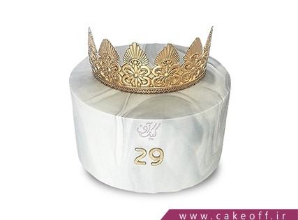 کیک روز دختر - کیک دخترانه ملکه بانو | کیک آف