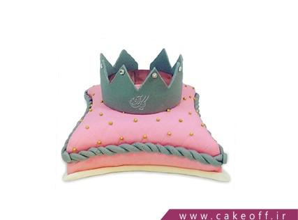 کیک های تولد دخترانه - کیک تاج طوسی صورتی | کیک آف
