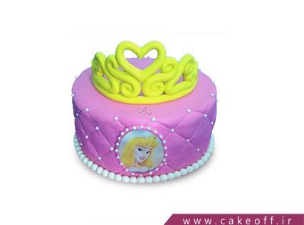 کیک تولد زیبا دخترانه - کیک تاج دلبر | کیک آف