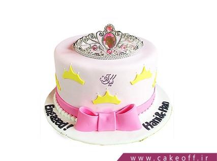 مدل کیک تولد دخترانه جدید - کیک نگین تاج | کیک آف