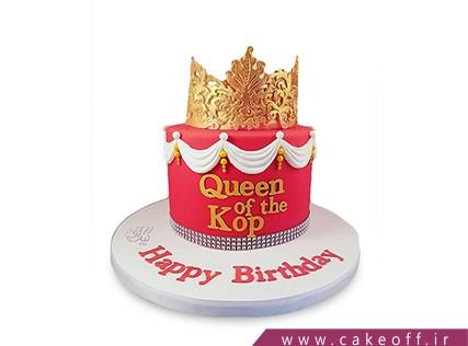 کیک دخترانه - کیک تاج زر | کیک آف
