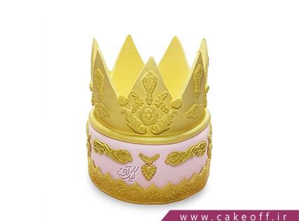کیک روز دختر - کیک طلا تاج | کیک آف