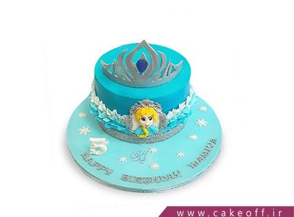 کیک دخترانه السا تاج دار | کیک آف